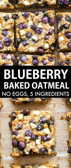 Breakfast Bake, Healthy Breakfast Recipes, Healthy Snacks, Healthy Recipes, Whole Food Recipes, Blueberry Breakfast Recipes, Healthy Breakfast Cookies, Healthy Blueberry Desserts, Gluten Free Breakfast Casserole