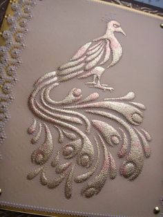 I have to make this beautiful design on embossed metal.