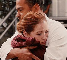 Pin for Later: 22 Grey's Anatomy Moments That Give Hope For Jackson and April's Reconciliation This. Embrace.