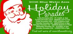 The Holiday Parade Dates for 2016 in the Blue Water Area.