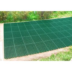 Techno Earth in. Green Permeable Plastic Grass Pavers for Parking Lots, Driveways - The Home Depot Rock Driveway, Driveway Apron, Permeable Driveway, Resin Driveway, Modern Driveway, Diy Driveway, Driveway Design, Driveway Landscaping, Driveway Ideas