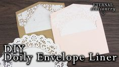 How to make your own easy doily envelope liner   DIY invitations - YouTube