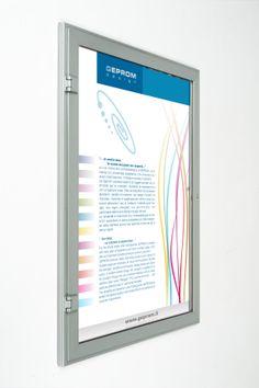 L' elegante bacheca WNB è  ideale per l' esterno,  gli avvisi, annunci o comunicazioni importanti sono protetti dall'anta a battente apribile con serratura.