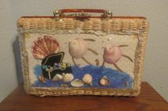 Seltene Vintage 50er Stroh und Schildkröte von CHELSEESTREASURES, $39.99