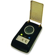 replica of the classic Star Trek communicator with sound effects and memorable phrases from the original television series.