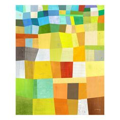Melanie Mikecz abstract work - I would love a quilt in this pattern or even a large 8x10 area rug. So beautiful, bright, and funky.
