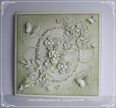 Elly's Card Corner: Bundled sage monochromatic card.  Just gorgeous!