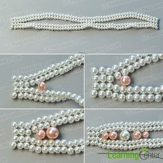 make the third part of the elegant pearl bracelet