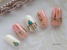 Native nail chip in ethnic
