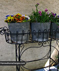 Pinterest Garden, Galvanized Buckets, Rustic Garden Decor, Backyard Makeover, Garden Inspiration, Garden Ideas, Planters, Planter Ideas, Garden Planning