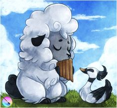 A cute sheep photo I found on the Blender website =]