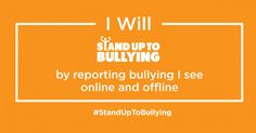 Good morning. Today is @AntiBullyingPro @DianaAward #StandUpToBullying The Etiquette around bullying is to report it