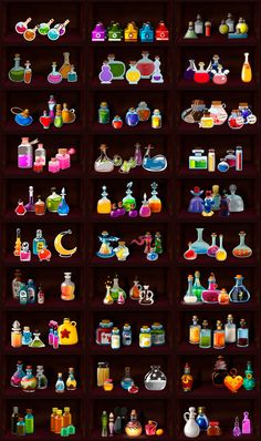 Potions in different graphic styles 2 by EternalAnomaly on DeviantArt