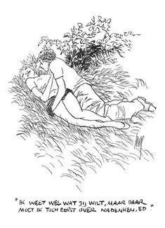PETER van STRAATEN - ROKEN - NEUKEN - DRINKEN (246) Ik weet wel wat jij wilt, maar daar moet ik toch eerst over nadenken, Ed Pencil Art Drawings, Archie Comics, Erotic Art, Cartoon Art, Love Art, Cute Couples, Illustration Art, Sketches, Sculpture