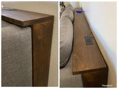 Behind the Couch Console Table Plans, Couch table Behind Sofa Table, Shelf Behind Couch, Sofa Shelf, Home Living Room, Living Room Decor, Living Room Hacks, Dining Room, Small Living Room Storage, Media Room Decor