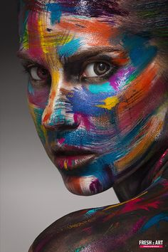 Creative face art by Yurii Fresh-art – Body Painting Body Art Photography, Portrait Photography, Creative Portraits, Creative Art, Photographie Art Corps, Art Tumblr, Make Up Art, Shooting Photo, Photo Retouching
