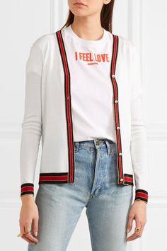 Gucci - Striped Wool Cardigan - Ivory -