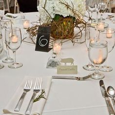 Customer photo from Caitlin W. She used our meal choice place cards. Photo by: Ocken Photography