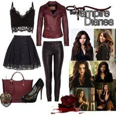 Diy teen vampire costume halloween costume pinterest vampire image result for elena gilbert inspired outfits season 5 solutioingenieria Image collections