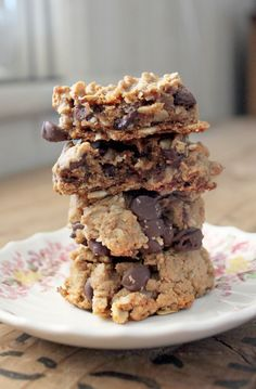 Peanut butter oatmeal chocolate chips cookies (flour free)