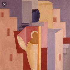 Charlotte Wankel and L'Esprit Nouveau: Charlotte Wankel, Komposisjon med avantgardearkitektur, Oil on canvas, 66 x 66 cm. French Art, Cubism, Henri Matisse, Abstract Artwork, Art, Art Historian, Abstract, Contemporary Art, Avant Garde Art