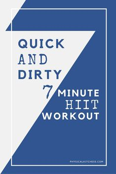 Quick and Dirty 7 Minute HIIT