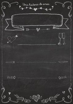 Chalkboard Dia dos Namorados para Imprimir