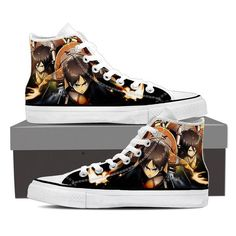 Converse Unisex - Eren and Mikasa Attack On Titan Shoes