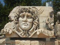 Temple Of Apollo in Didyma, Turkey : The  Head statue of Medusa