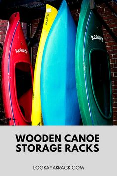 Store one, two or eight canoes in our solidly crafted wooden canoe storage racks made entirely out of quality Northern White Cedar logs. #logkayakrack #kayak Canoe Storage, Storage Racks, Boat Stands, Northern White Cedar, Wooden Canoe, Kayak Rack, Cedar Log, Canoes, Logs