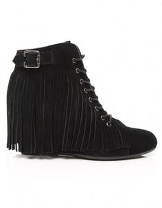 Black Diva Indian Boots by No Name