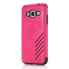Galaxy J3(2016) Case, LUOLNH [Shock Absorbing] Dual Layer Protective Hybrid Rubber Bumper High Impact Rugged TPU Slim Fit Hard Case Cover Shell for Samsung Galaxy J3(2016) (Red) -- Awesome products selected by Anna Churchill