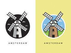 Windmill of Amsterdam by Al Power