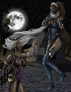 Kitana by ordinarily-me on DeviantArt Kitana Mortal Kombat, Scorpion Mortal Kombat, Final Fantasy Characters, Video Game Characters, Video Games Girls, Mileena, King Of Fighters, Street Fighter, Female Art
