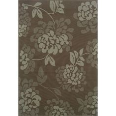 Put a classic touch under your feet with this grey indoor/outdoor area rug. Featuring a beautiful floral print of slate blue and grey, this durable rug has a low pile to endure the elements and make your outdoor space look great for years to come.