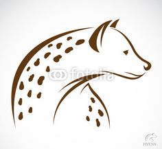 Vektor: Vector image of an hyena
