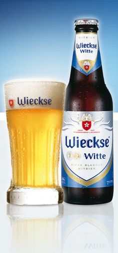 Wieckse Witte Bier. White beer, cooling and refreshing beer in the summer, optionally served with a small slice of lemon.