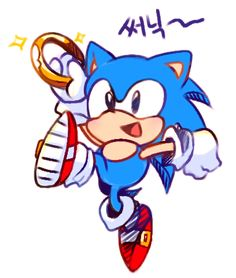 Classic sonic with a ring Game Sonic, Sonic 3, Sonic Fan Art, Sonic The Hedgehog, Hedgehog Art, Sonic & Knuckles, Classic Sonic, Sonic Mania, Sonic Fan Characters