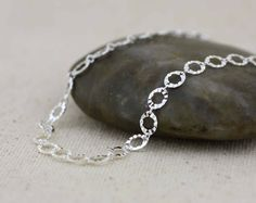 Sterling Silver Anklet Silver Disc Anklet Charm by Alyssasdreams