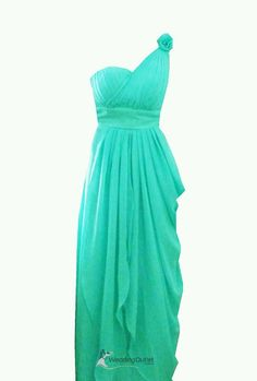 Aqua green grecian style gown