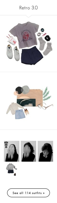 """""""Retro 3.0"""" by oheroineo ❤ liked on Polyvore featuring Retrò, Bensimon, Chapstick, Yves Saint Laurent, A.P.C., AG Adriano Goldschmied, Zara, Sandro, My Mum Made It and Maybe-Baby"""