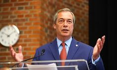 Nigel Farage announcing his resignation as Ukip leader.