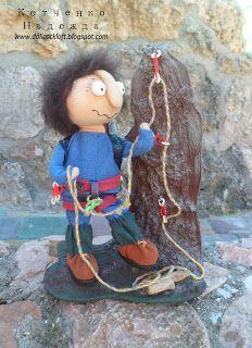Игрушки Надежды Котченко - doll by Nadya Kotchenko, Doll Cockloft: Альпинист