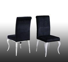 Tristan Modern Black Dining Chair (Set of 2) - Best Master Furniture 229-T10BDC