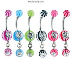 Body Jewelry Diligent Playboy Bunny Key Simulated Diamond Silver 316l Surgical Steel Belly Navel Ring