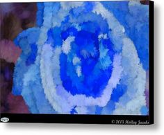 Single Rose Blue Canvas Print / Canvas Art By Holley Jacobs