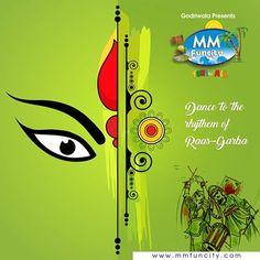 This Navratri, come and soak yourself in #raindance on the beats of #dandiyas and sway to the rhythm of Raas #Garba.  #HappyNavratri #MMFunCity