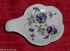 Vtg Hand Painted Porcelain Tea Bag Strainer Lefton Floral Purple Tea Bag Holder on eBay!