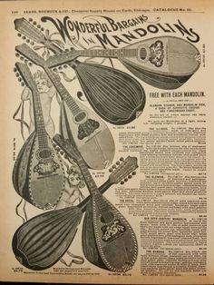 Guitars Mandolins Musical Instruments Vintage by SongsInColor
