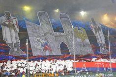Febbraio 2014, i tifosi del #Genoa nei Distinti del Ferraris